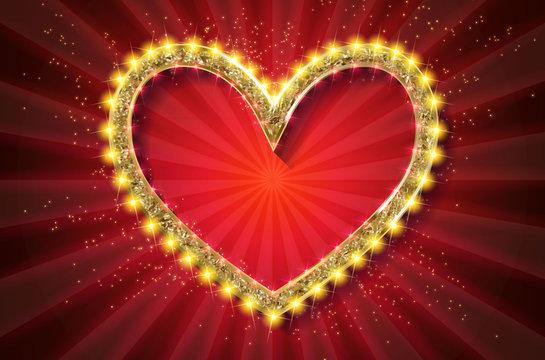 Frame cinema heart. Red version