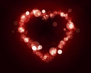 Heart Shape of Blurry Lights