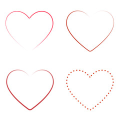 Vector illustration of four loops of hearts Valentine s Day