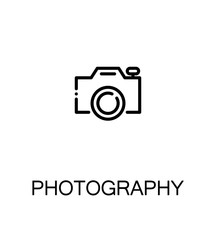 Photography flat icon.