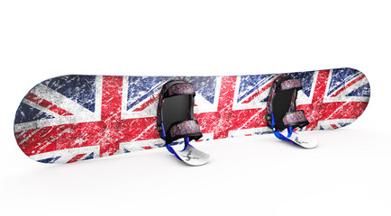 snowboard isolated on white 3d render