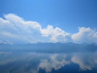 reflection on the lake Baikal