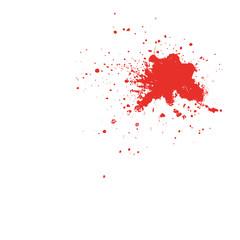Roter Farbspritzer oder Blut