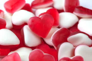 Love hearts candy sweets