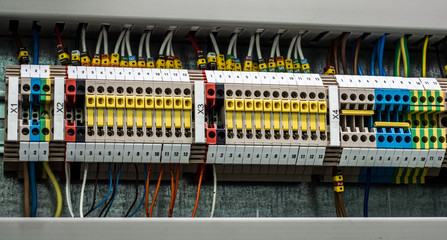 Wires and modules of the automatic control system.