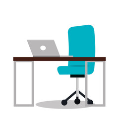 work place office icon vector illustration design