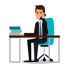 businessman character avatar icon vector illustration design