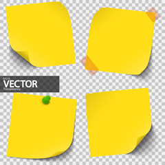 colored sticky notes with vector transparency