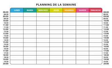 planning semaine