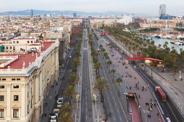 Passeig de Colom street in Barcelona