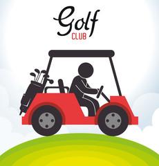 golf club cart icon vector illustration design