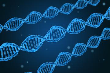 DNA DNS Doppelhelix als Symbolbild für Genetik und Gentechnik