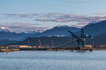 Massive coal conveyor at Seward, Alaska, USA
