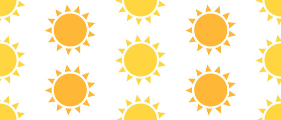 Sun seamless pattern Fototapete