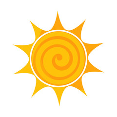 Swirl sun icon illustration