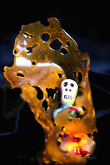 Cannabis oil concentrate aka shatter (death bubba strain) isolat