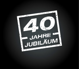40 Jahre jubilaeum stempel