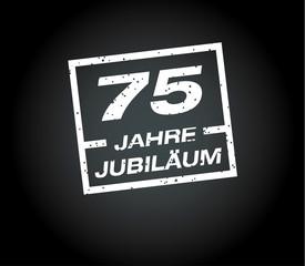 75 Jahre jubilaeum stempel