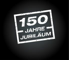 150 Jahre jubilaeum stempel