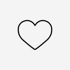 heart love valentine line icon black on white