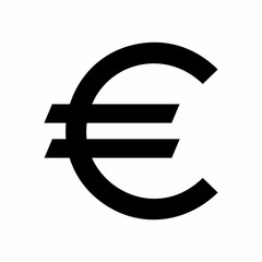 Euro sign vector design isolated on white background