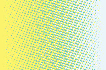 Abstract yellow green gradient pop art retro background