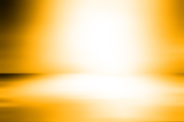 Abstract yellow-orange  empty room studio gradient used for background and display your product