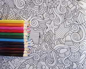 Antistress, adult coloring