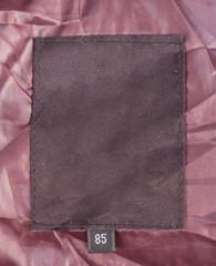 Blank jacket label