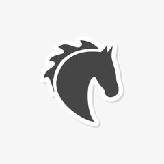 Vector illustration of horse head icon