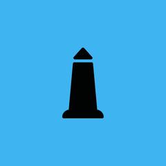 Alexandrian lighthouse icon. flat design