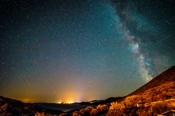Milky way in the sky of Croatia