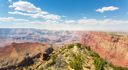 Stone mountains valley landscape at Grand Canyon