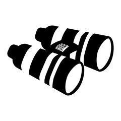Binoculars military equipment icon image vector illustration design