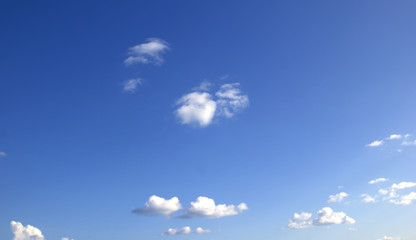 Blue sky white clouds Abstract nature