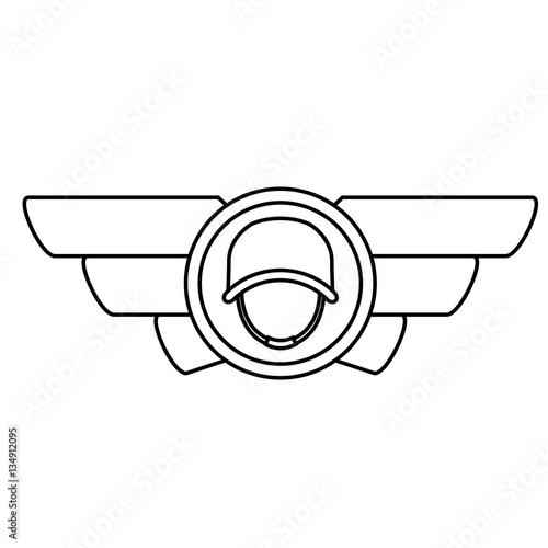 u0026quot emblem contour with the militar symbol that display