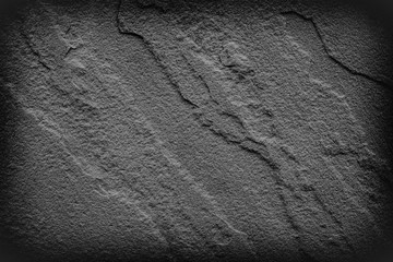 Wall Mural - Grey black slate background or texture.