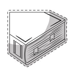 White encyclopedia icon image, vector illustration design