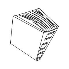 Figure encyclopedia icon image, vector illustration design