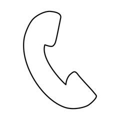 White symbol phone image design, vector illustration icon