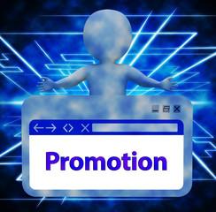 Promotion Webpage Representing Online Sale 3d Rendering