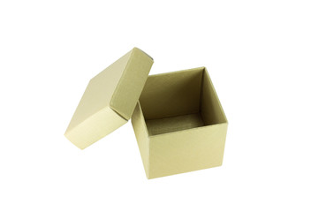 Open paper box isolated