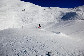 Fototapeta Snow Park, Meribel, Alps, France