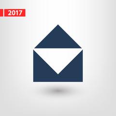 Mail  icon, vector illustration. Flat design style