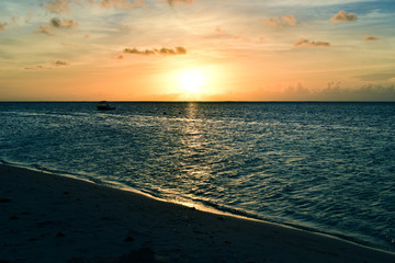 Sunset on the island of Saipan