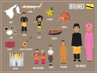 Vector illustration of National Play game culture of  Brunei