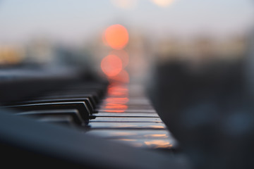 Piano keys waiting for musician