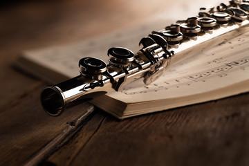 flauto traverso con spartito