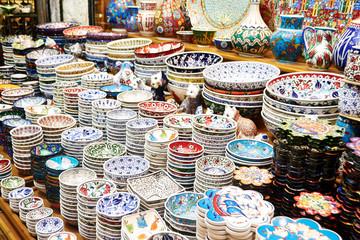 Classical Turkish ceramics on the Istanbul Grand Bazaar
