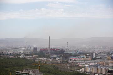Kraftwerk in Ulan Bator - Mongolei